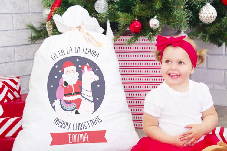 Bright Star Kids Personalised Santa Sack