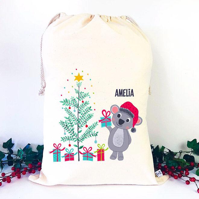 Personalised Koala Santa Sack