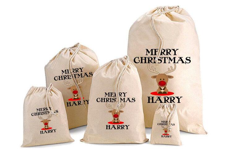 Personalised Baby Reindeer Santa Sacks