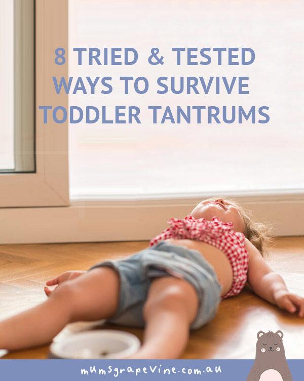 8 ways to survive a toddler tantrum