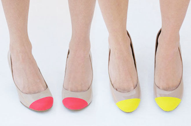Cute paint dipped shoes