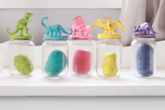 Toy Lid Glass Jars