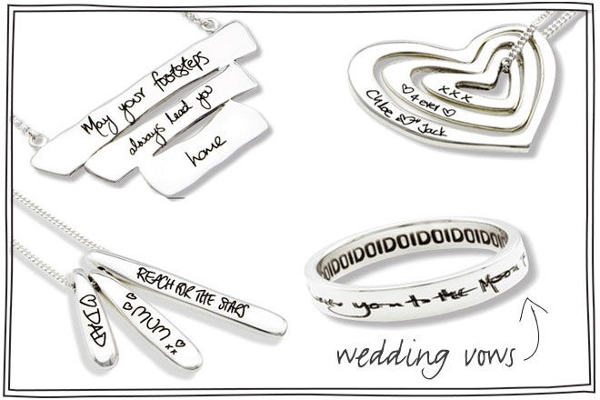 Wedding vows on ring