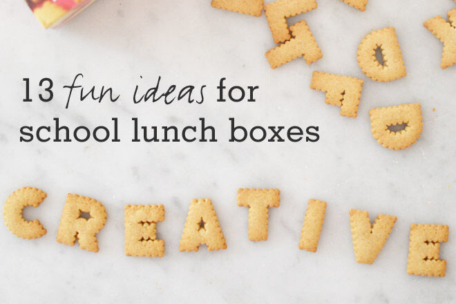 Fun first day lunch box ideas