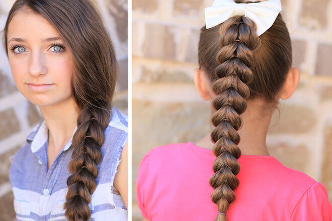 Pullthroughbraid hairstyle