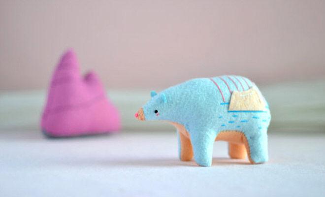 Soft bear sculpture