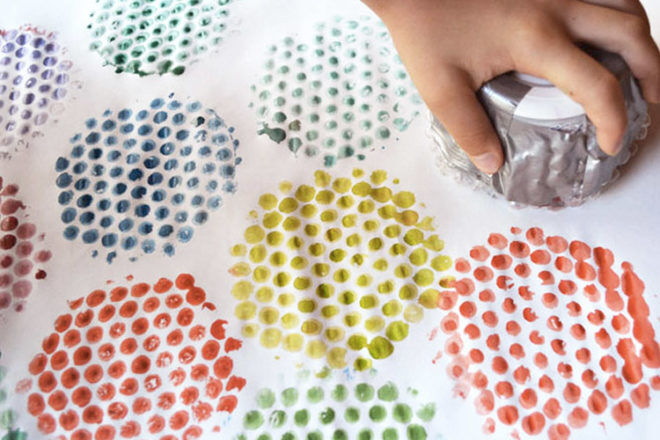 Bubble wrap stamping