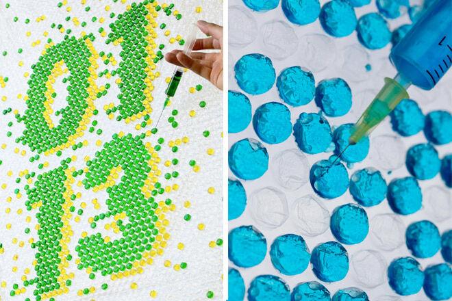 Bubble Wrap Colour Injection