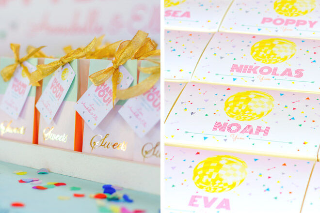 Disco Party Stationery