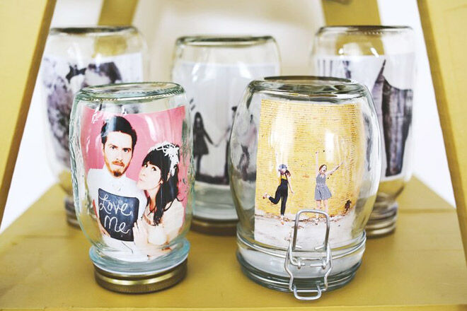 Photos in a Jar - A Beautiful Mess