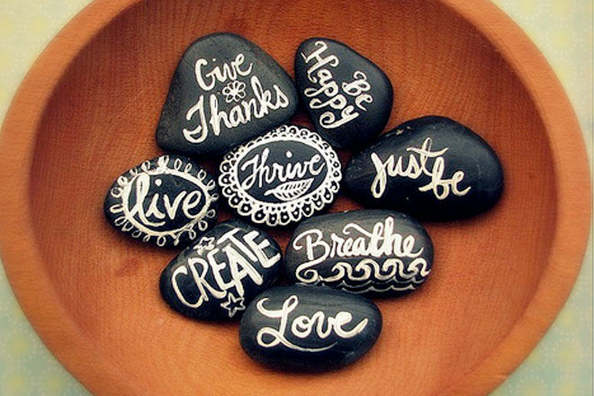 Messages on Rocks