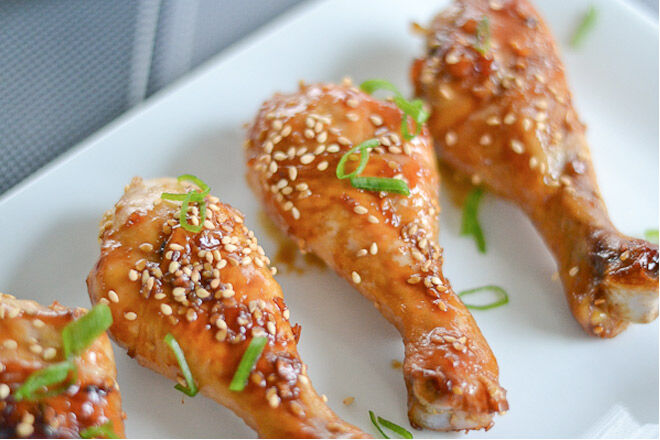 Easy sticky chicken makes great leftovers for the school lunch box