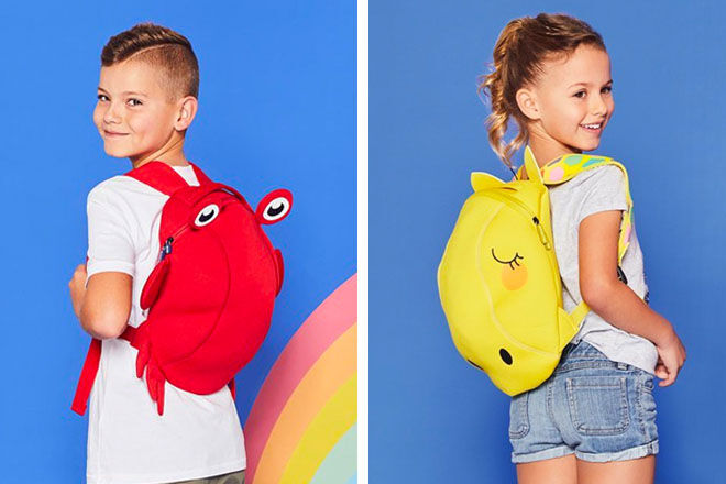 Sunnylife Neoprene Backpacks Crabby and Giraffe