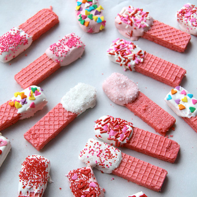 Valentines Cookies with Marshmallows