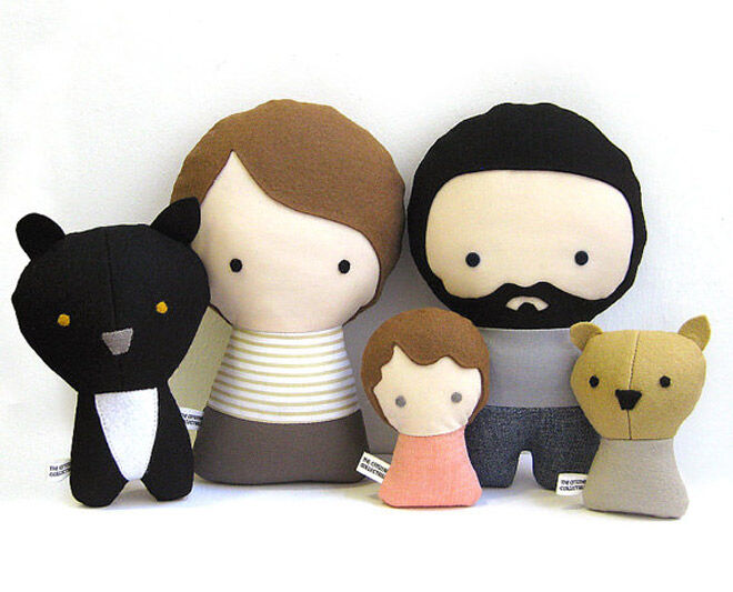 Citizens collective etsy plush doll family