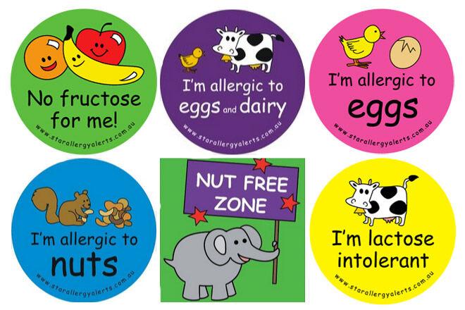 Food Allergy Labels for kids