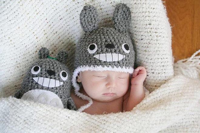 Newborn totoro hat