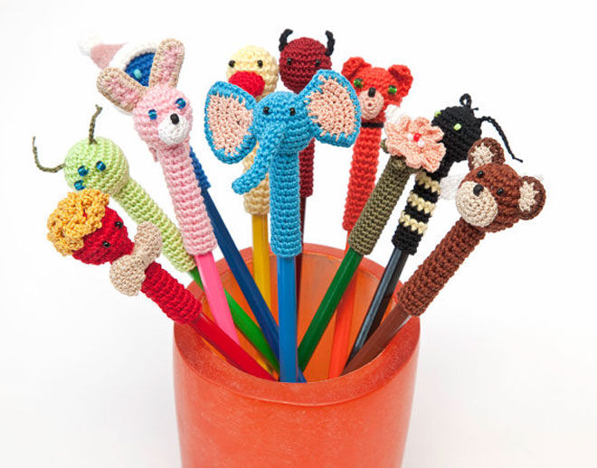Zori Crochet animal pencil toppers