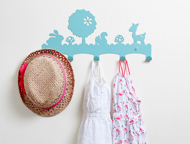Etsy blue woodland coat hanger