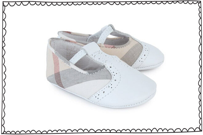 Burberry pre-walker crib shoes