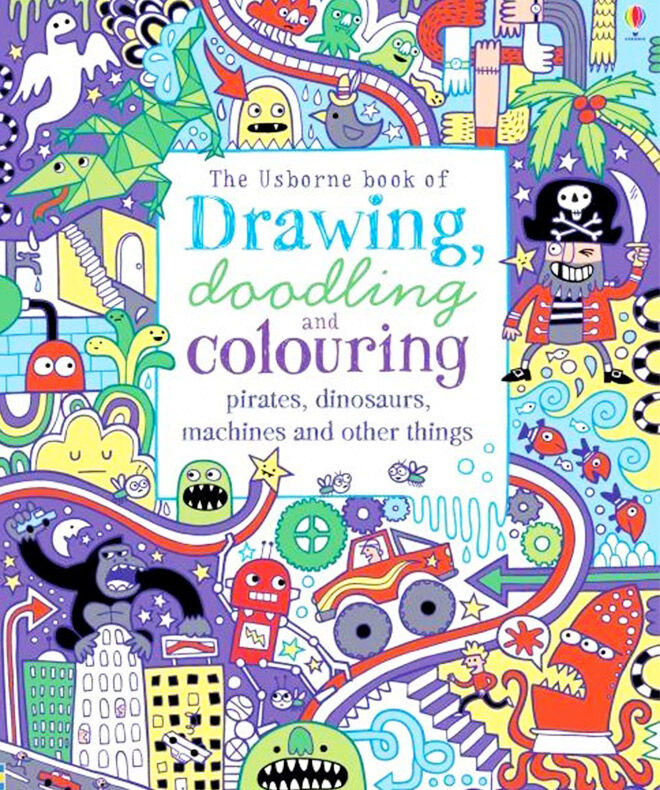 Pirate colouring book for kids