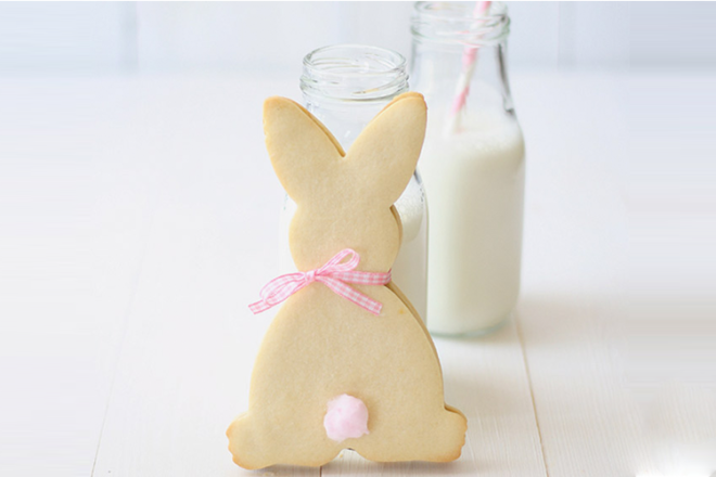 Easter bunny shortbread biscuits