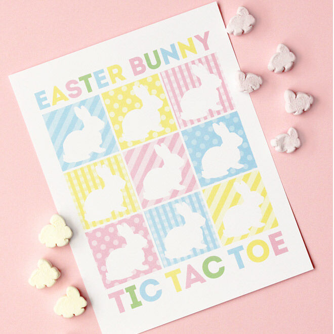 Easter Printables - Bunny Tic Tac Toe