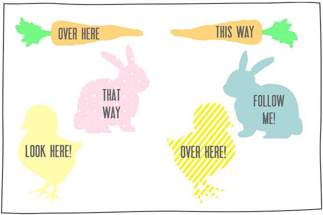 Easter Egg Hunt Printable Signs