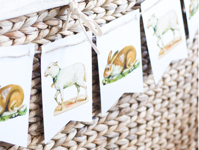 Easter Printables Bunny and Lamb Bunting