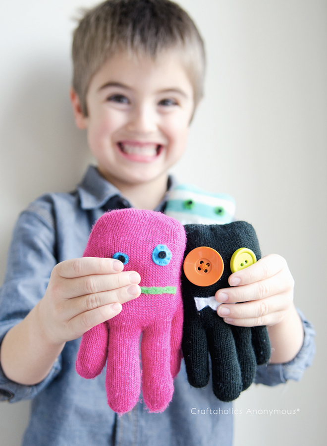upcycle glove softie monster