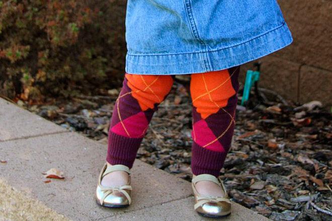 winter craft sew tights
