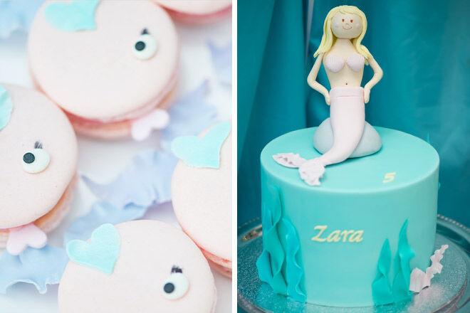 Mermaid Cake and Fish Macarons