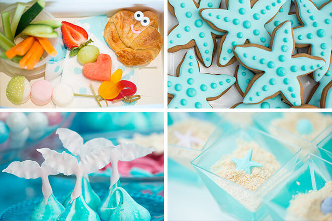 Party food inspiration for a mermaid inspired party