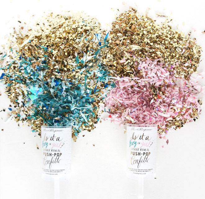 Gender Reveal Push Pop Confetti