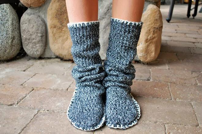 craft woolies jumper knit boot
