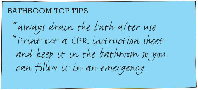 Toddler-proofing a bathroom