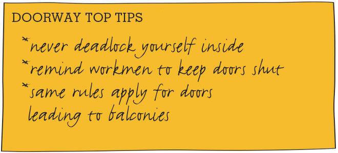 Toddler-proofing doorways
