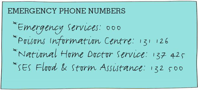 Top Tips - emergency numbers