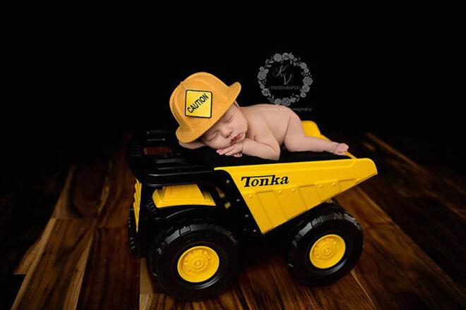 Etsy newborn construction worker hat photo prop