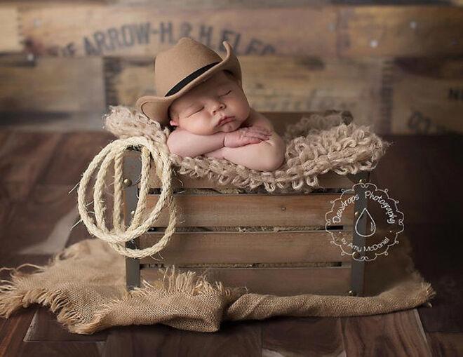 Etsy newborn cowboy hat photo prop