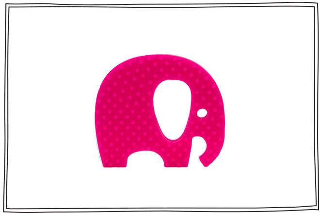 Pink elephant teether