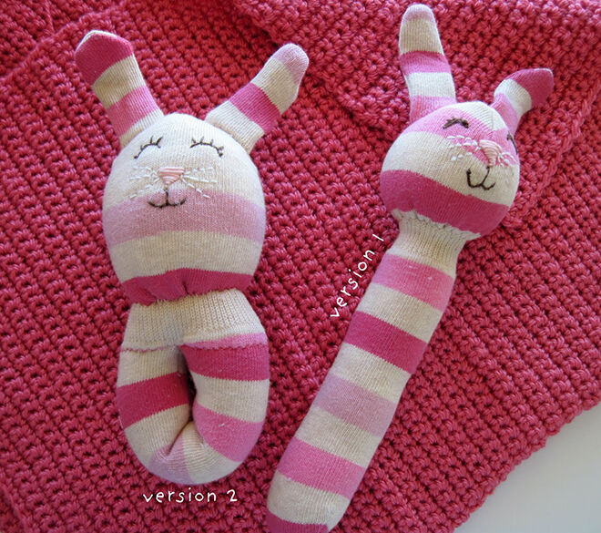 Sock rattles. Things to make out of your old winter woolies.