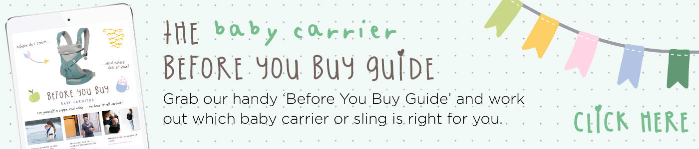 before you buy a baby carrier or sling