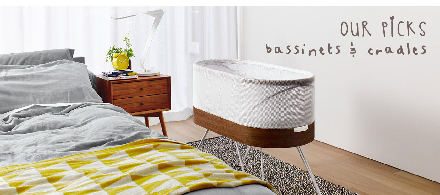 Our picks for buying a bassinet or cradle