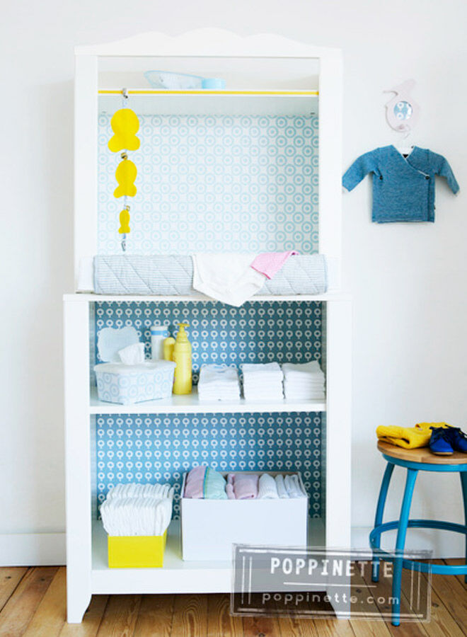 IKEA hacks for the nursery change table