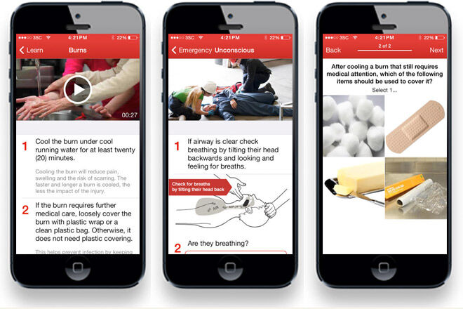 First Aid app by Australian Red Cross
