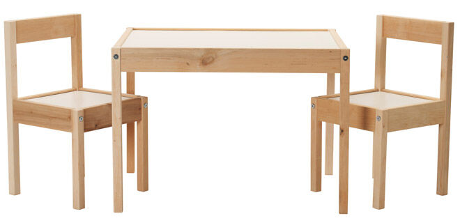 How to upcycle a LATT table and chairs set