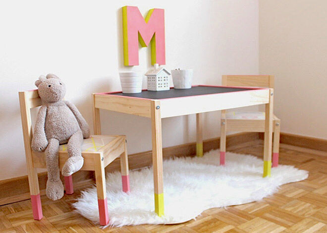 ce121c3b04a IKEA Hack  9 ways to makeover the LATT children s table