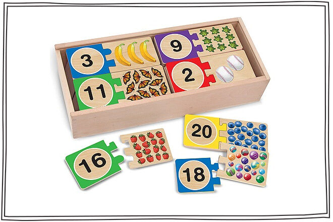 Melissa & Doug wooden number card game
