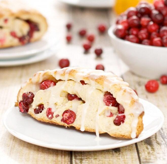 delicious recipe for fresh cranberry scones